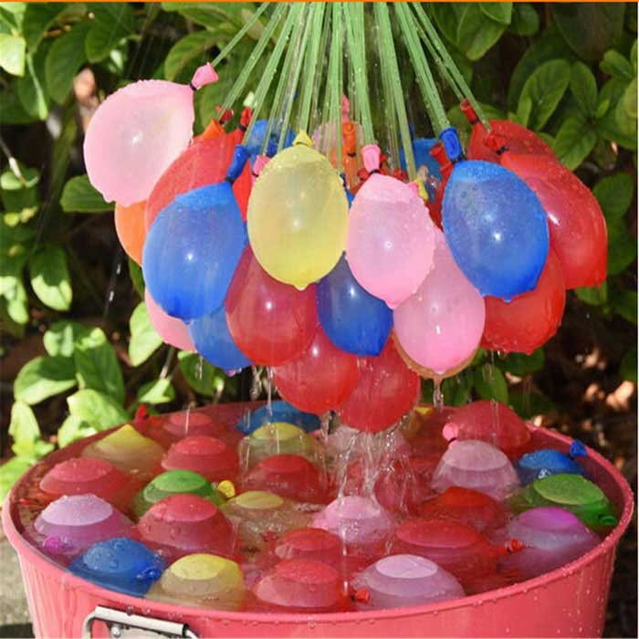 Water Fight Balloons for Children Outdoor Play - Multicolor (111PCS)Other Toys<br>Form ColorYellow + Red + Multi-ColoredMaterialLatexQuantity1 DX.PCM.Model.AttributeModel.UnitSuitable Age 3-4 years,5-7 years,8-11 years,12-15 years,Grown upsOther Features3 x  Bunches (37pcs/bunch, 111pcs/bag)Packing List3 x Bunches of water balloons(111pcs)<br>