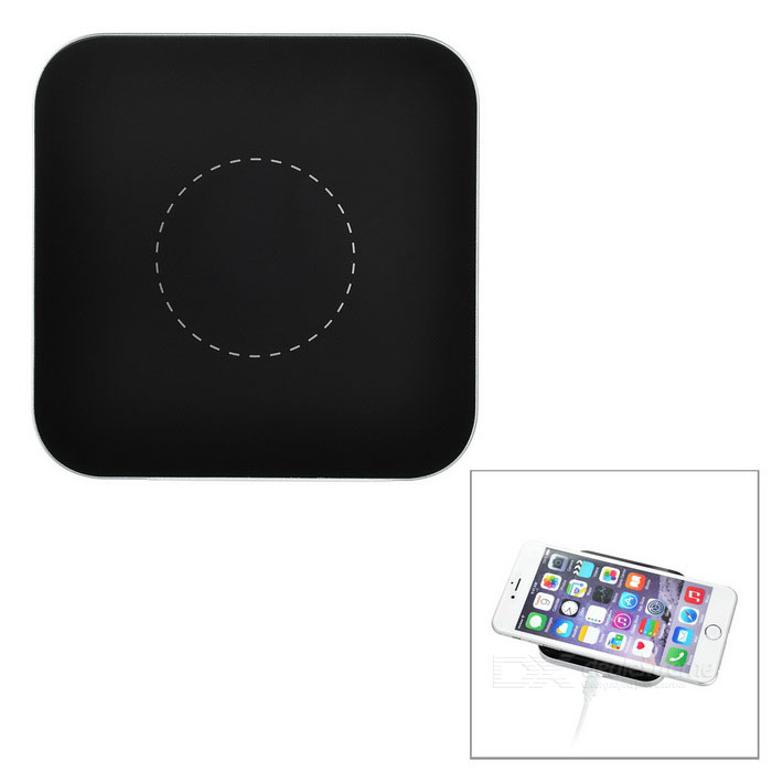 Qi Wireless Charger w/ Mini USB for IPHONE + More - Black + Silver