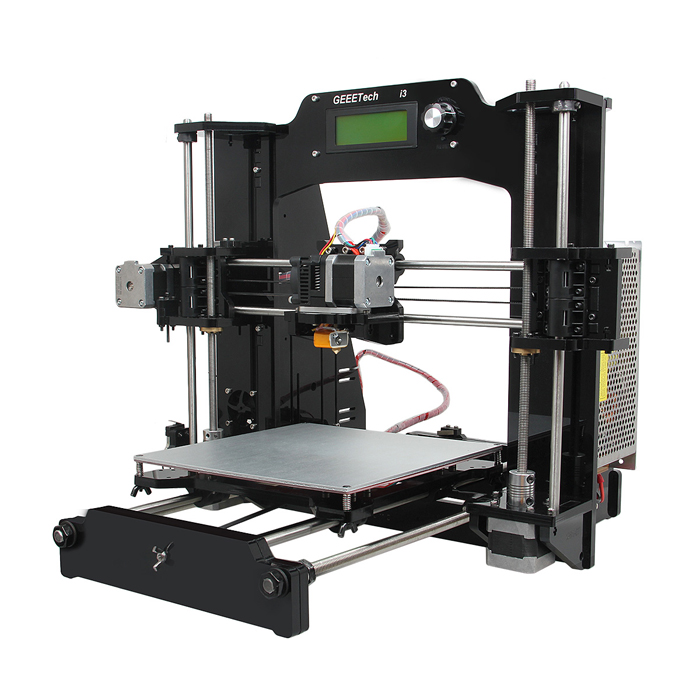 Geeetech Acrylic Prusa I3*3D Printers (1.75mm Filament/0.3mm Nozzle) for sale in Bitcoin, Litecoin, Ethereum, Bitcoin Cash with the best price and Free Shipping on Gipsybee.com