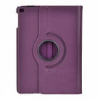 360' Rotating PU Case w/ Stand / Auto Sleep for IPAD AIR 2 - Purple