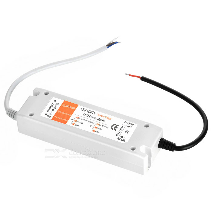 DC 12V 100W 8A Constant Voltage LED Driver - White