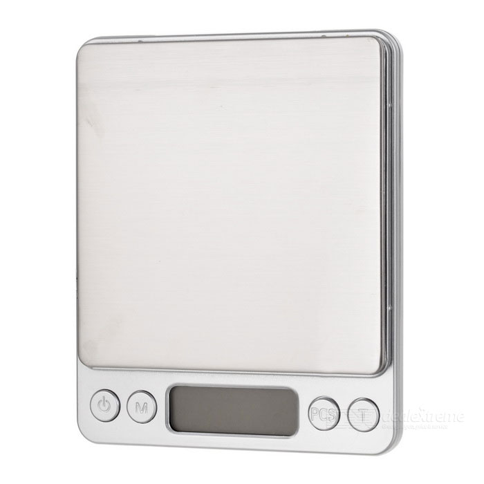 "MH-8008 1.8"" Screen Dual-Tray Jewelry / Kitchen Scale (500g / 0.01g)"