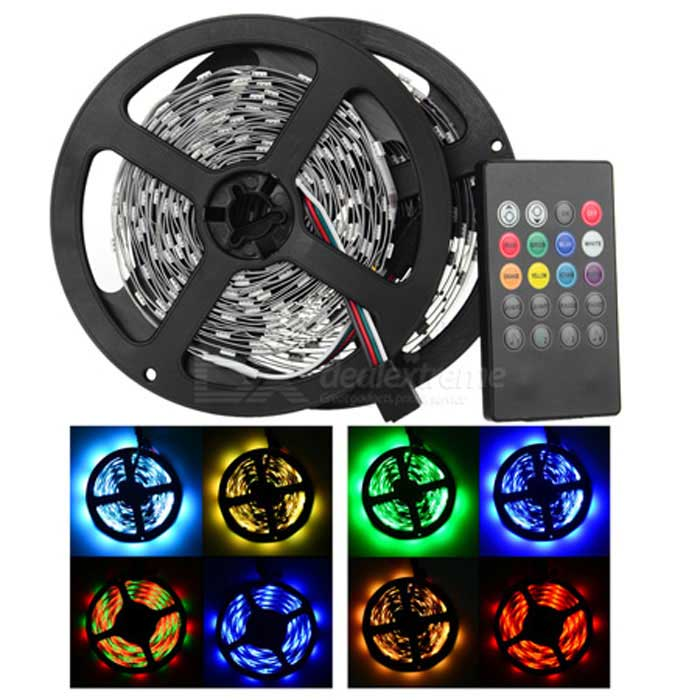 JRLED RGB SMD LED Light Strip w/ Controller (US Plug / 2 PCS)