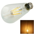 YouOKLight E27 6W 550lm Warm White LED Filament Bulb - Transparent
