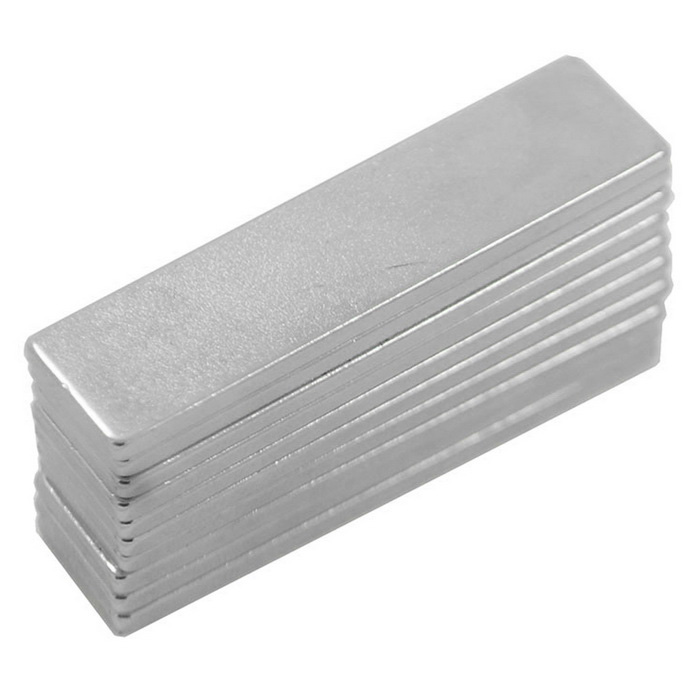 DIY 40*10*2mm Super Strong NdFeB Magnets Set - Silver (10PCS)