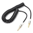 3.5mm Male to Male Spring Audio Cables - Black (2PCS / 43cm)