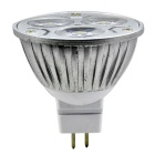 JIAWEN MR16 3W Warm White 300lm 3200K 3-LED Spotlight - Silver (2PCS)
