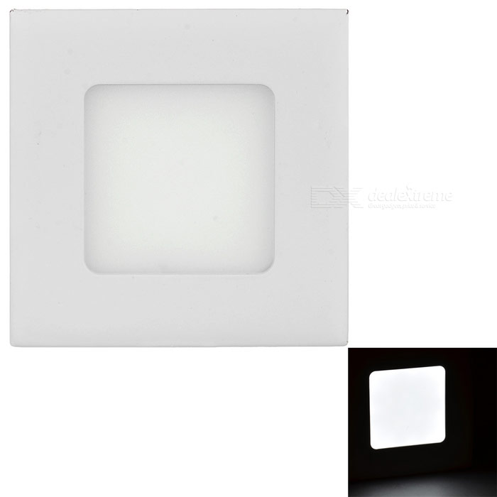 3W LED Square Ceiling Light White 15-SMD 2835 w/ LED Driver - WhiteCeiling Light<br>Form  ColorWhiteColor BINWhiteQuantity1 DX.PCM.Model.AttributeModel.UnitMaterialAluminumPower3WRated VoltageAC 85-265 DX.PCM.Model.AttributeModel.UnitChip Type2835Emitter TypeLEDTotal Emitters15Theoretical Lumens300 DX.PCM.Model.AttributeModel.UnitActual Lumens250 DX.PCM.Model.AttributeModel.UnitColor Temperature6000KDimmableNoBeam Angle360 DX.PCM.Model.AttributeModel.UnitExternal Diameter9 DX.PCM.Model.AttributeModel.UnitHole diameter6.6 DX.PCM.Model.AttributeModel.UnitHeight2 DX.PCM.Model.AttributeModel.UnitPacking List1 x LED lamp (wire length: 12+/-2cm)1 x LED driver (wire length: 11.5+/-2cm / 7+/-2cm)<br>