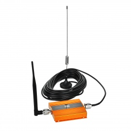 2G/3G/4G Cell Phone Signal Booster Amplifier with 0.6 Inch LCD Screen - Golden / EU Plug