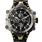 HPOLW Men's Waterproof Analog + Digital Sports Watch - Grey (1*CR2025)