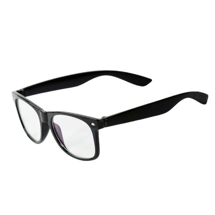 Anti-Radiation Fatigue-resistant Plain Glass Spectacles - Black