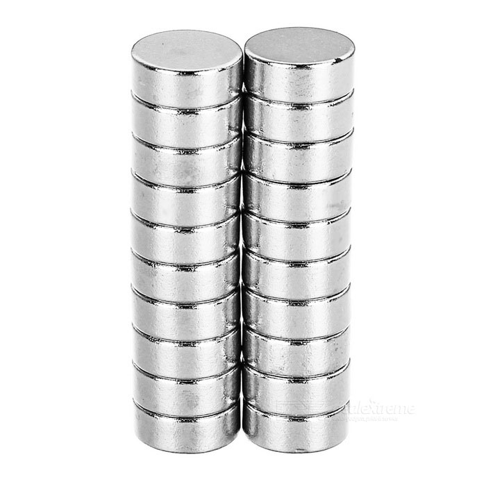 Round Shaped NdFeB Magnets - Silver (20PCS / D10*4mm)