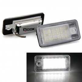 Qook-White-18-LED-License-Plate-Light-for-AUDI-A3S3-A4S4-B6-(2PCS)