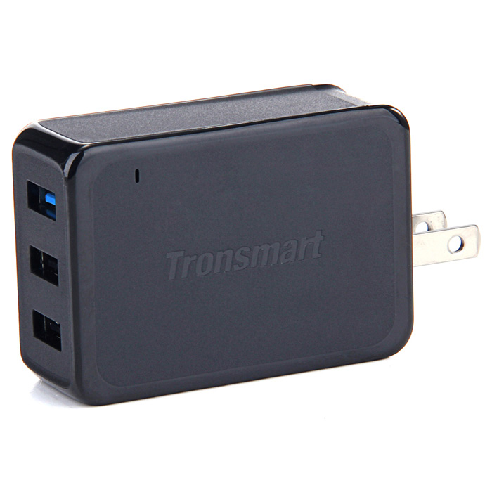 Tronsmart TS-WC3PC Quick Charge 2.0 3-Port Wall Charger - Black GreyAC Chargers<br>Form ColorBlack GreyModelTS-WC3PCMaterialPCQuantity1 DX.PCM.Model.AttributeModel.UnitCompatible ModelsSamsung Galaxy S6,S6 Edge,Note 4,Note Edge/ Google Nexus 6/ Sony Xperia Z4,Z3/ HTC One M9,One M8/ Xiaomi Mi3,Mi4,Mi Note/ Asus Zenfone 2Input Voltage12-24 DX.PCM.Model.AttributeModel.UnitOutput CurrentDC 5V/2A, 9V/2A, 12V/1.5A &amp; 10W/18W(Max) DX.PCM.Model.AttributeModel.UnitOutput Power54 DX.PCM.Model.AttributeModel.UnitOutput Voltage5 DX.PCM.Model.AttributeModel.UnitPower AdapterUS PlugsPacking List1 x Tronsmart TS-WC3PC Wall Charger1 x 180cm Special Design USB Cable1 x English user manual<br>