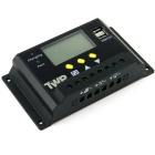 "TWP 48V 30A 2.4"" LCD PWM Solar Charge Controller with USB - Black"