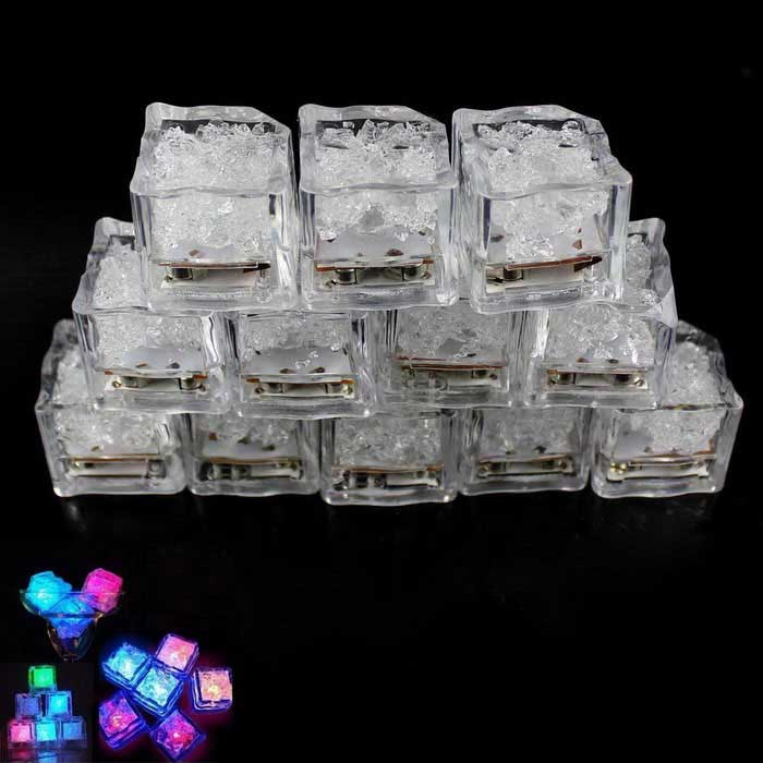 Simulation Ice Light Colorful LED Small Object Flash Ice Tubes (12PCS)