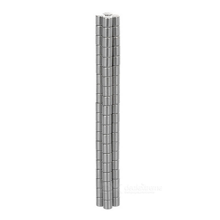 D2*2mm Cylindrical NdFeB Magnet - Silver (80PCS)