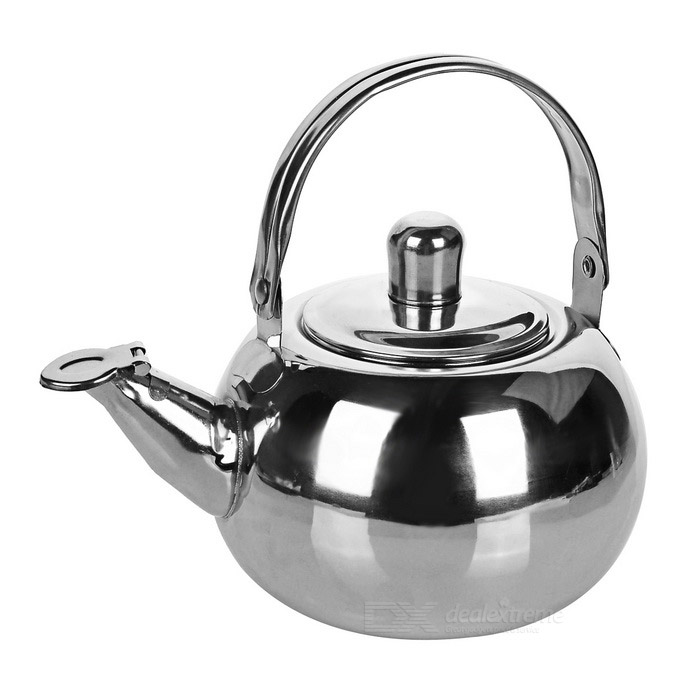 Camping Stainless Steel Tea Pot Kettle w/ Strainer Filter