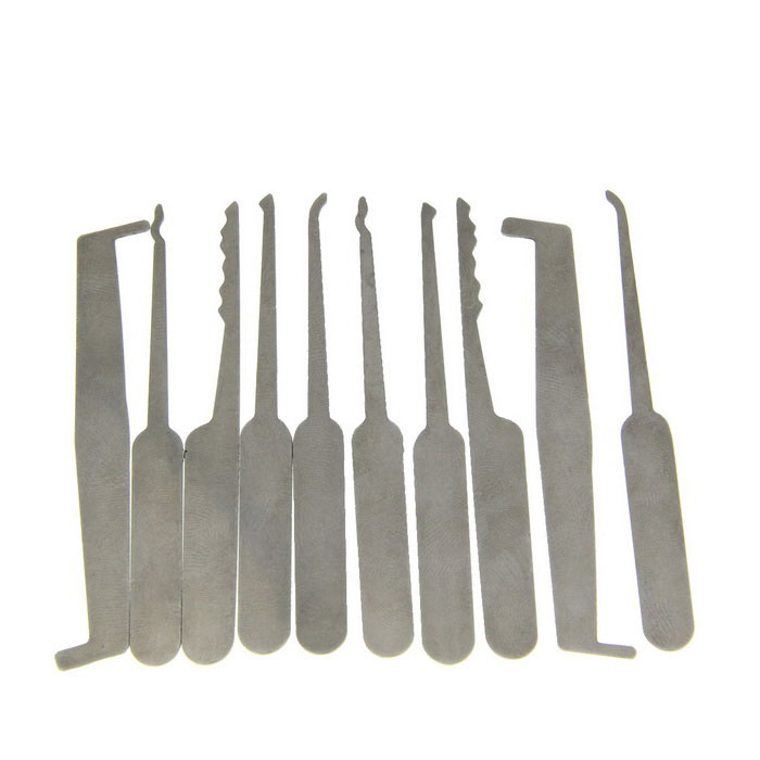 5-In-1 Stainless Steel Single Hook Lock Pick Tool Set - Silver (2 Set)Locksmith Supplies<br>ModelN/AQuantity2 DX.PCM.Model.AttributeModel.UnitForm  ColorOthers,SilverMaterialStainless steelPacking List2 x Set of lockpick tools (5 PCS w/ each set)<br>