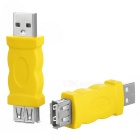 USB 2.0 Male to USB 2.0 Female Adapters - Yellow + Silver (2PCS)