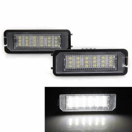 Qook-14W-White-18-LED-License-Plate-Light-for-VW-Golf5-Golf6-(2PCS)