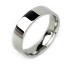 Men's Simple Smooth Titanium Steel Ring - Silver (US Size 11)