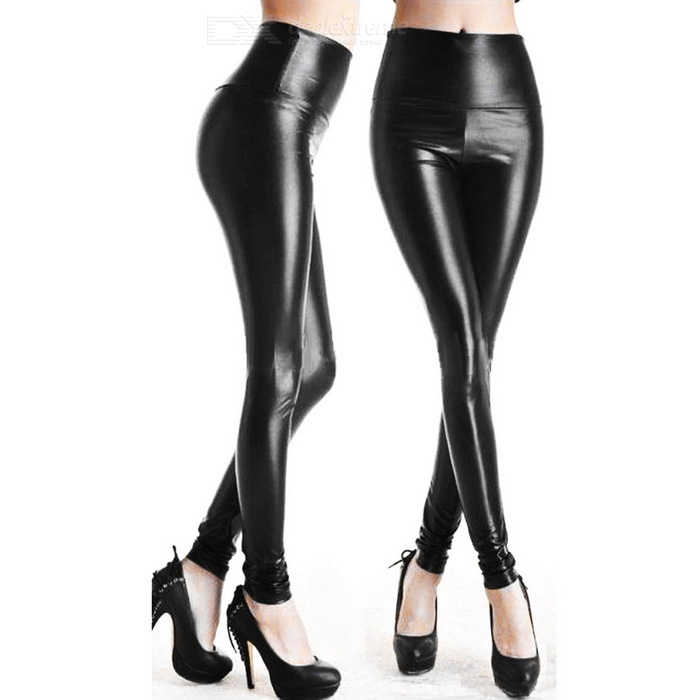 Women's Sexy Elastic Tight-Fitting Cotton + Polyester Leggings - Black for sale in Bitcoin, Litecoin, Ethereum, Bitcoin Cash with the best price and Free Shipping on Gipsybee.com