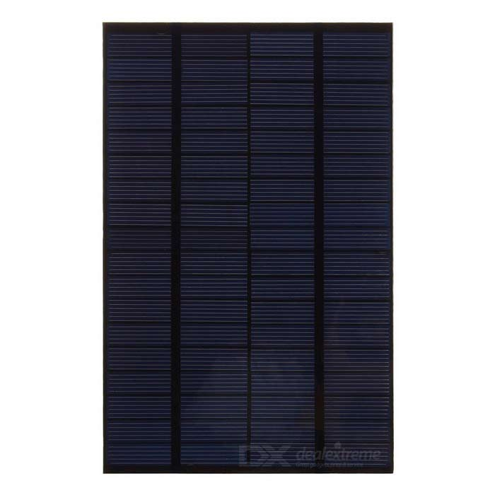 4.2W 18V Output Polycrystalline Silicon Solar Panel - Black + Green