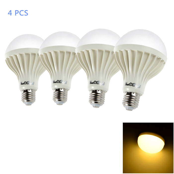 YouOKLight E27 12W 3000K 18-SMD Warm White Light LED Bulb (4PCS)