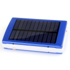 5000mAh Camping LED Light/Solar Power Charger Mobile Power Bank - Blue