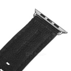 Italian Leather Watchband w/ Screwdriver for Apple Watch 42mm - Black