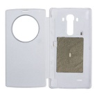 Qi Standard Wireless Charger Receiver PU Case w / NFC pour LG G4 - Blanc