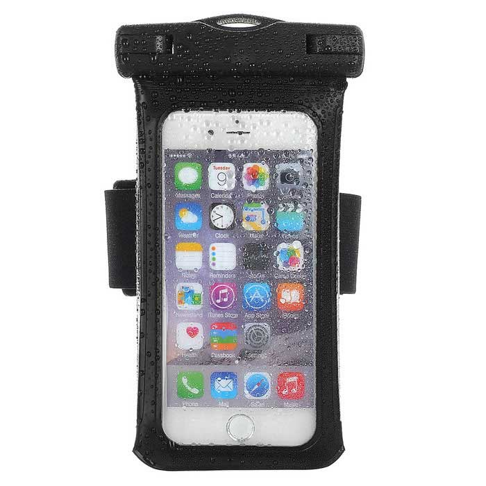 Buy Jtron 4.7 Inches IPX8 Waterproof Case for Smart Phone - Black with Litecoins with Free Shipping on Gipsybee.com