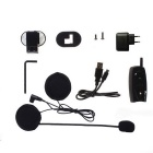 VNETPHONE 500m Motorcycle Helmet Bluetooth Intercom Interphone - Black