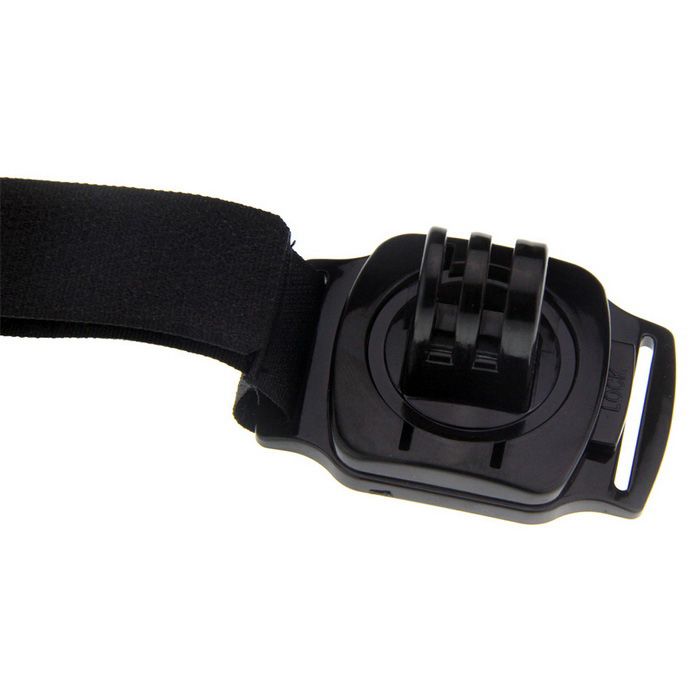 360' Rotary Overall Fixed Stable Wrist Band Strap for GoPro Hero (S)