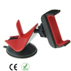 Universal Uniaxial Tensile Navigation Phone Holder - Black + Red