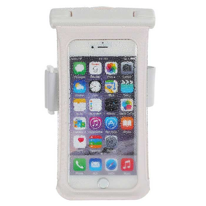 "Jtron 100% Waterproof PVC + ABS Case for 5.5"" Smart Phones - White"