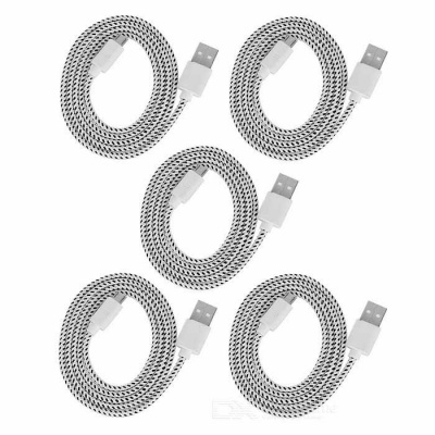 Micro USB to USB 2.0 Charging Cable for Samsung - White + Black (5PCS)