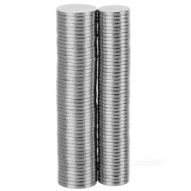 D8*1mm + D10*1mm NdFeB Magnets - Silver (100PCS)