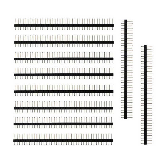 DIY 2.54mm 40Pin Long Pin Headers - Black (10PCS)
