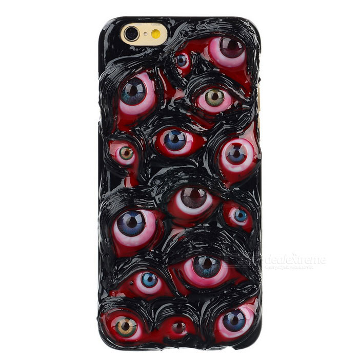 halloween bulbi oculari modello posteriore in plastica caso per IPHONE 6 - multicolore