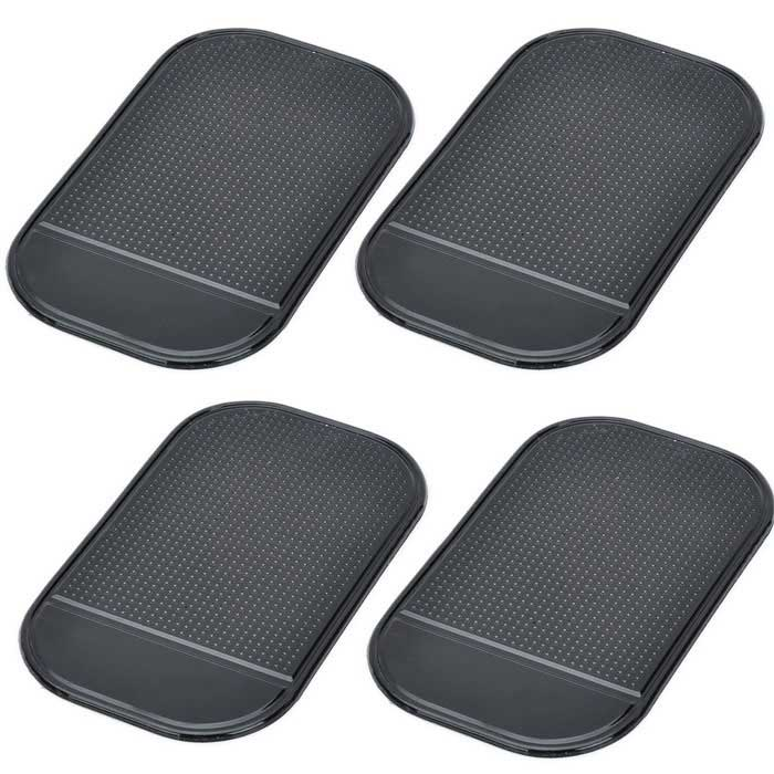 Buy PU Car Anti-Slip Non-Slip Pad Mat - Black (4PCS) with Litecoins with Free Shipping on Gipsybee.com