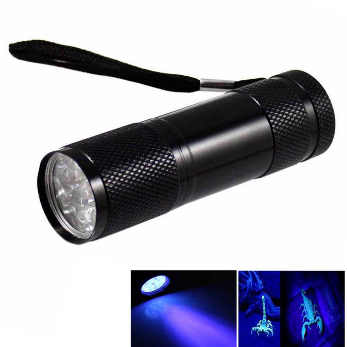KINFIRE UV Light 9-LED 400nm Purple Flashlight Money Detector Light for sale in Bitcoin, Litecoin, Ethereum, Bitcoin Cash with the best price and Free Shipping on Gipsybee.com