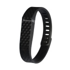 3D Stereo Texture TPE TPU Wristband for Fitbit Flex- Black (161-209mm)