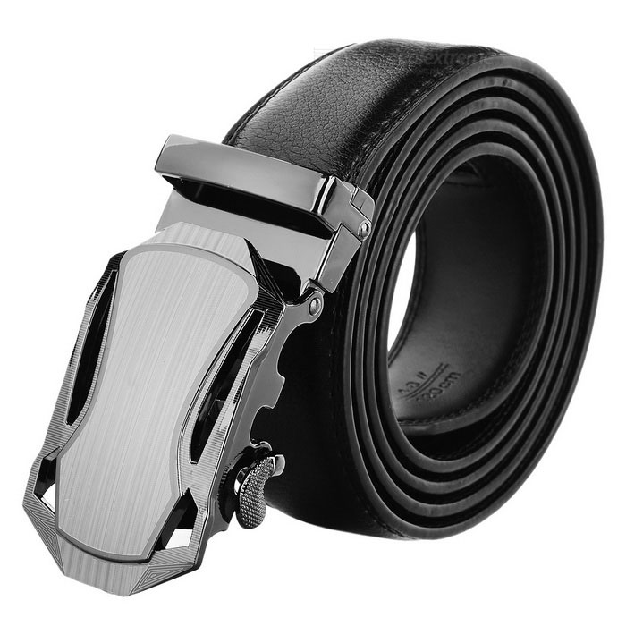 Men's Split Leather Belt w/ Car Pattern Automatic Buckle