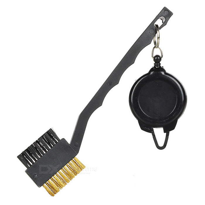Buy TOURLOGIC Double Side Brush for Golf Club - Black with Litecoins with Free Shipping on Gipsybee.com
