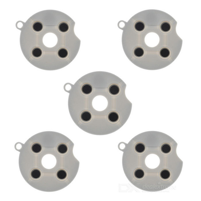 Conductive Contact Button Pads for XBOX 360 Controller - Grey (5PCS)