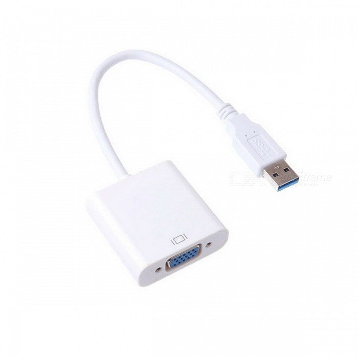 Cwxuan Drive-Free USB 3.0 to VGA Video Adapter - White