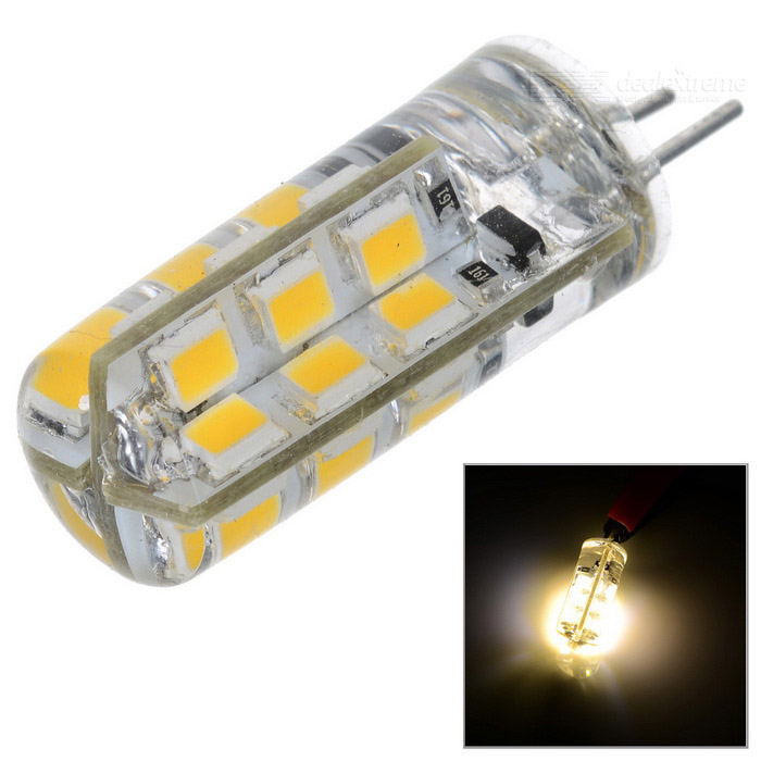 Buy G4 3W LED Corn Bulbs Warm White 3000K 270lm 24-SMD 2835 (DC 12V) with Litecoins with Free Shipping on Gipsybee.com