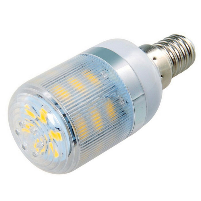 E14 7W 630lm 24-SMD 3000K Warm White LED Corn Light w/ Strip Cover